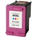 HP 64XL Ink Cartridge, Color, High Yield (N9J91AN)