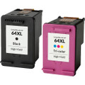HP 64XL Ink Cartridge 2-Pack, High Yield