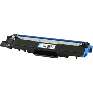 Brother TN227C Toner Cartridge, Cyan, High Yield
