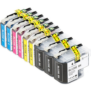 9-Pack Brother LC20E Ink Cartridge Set, Super High Yield