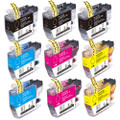 Brother LC3017 Ink Cartridge, High-Yield, 9-Pack