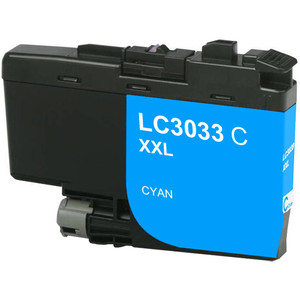 Brother LC3033C Ink Cartridge, Cyan, Super High-Yield