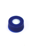 Blue, 12 x 32mm Screw Neck Cap and preslit PTFE/silicone Sept