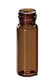 Amber Glass 12 x 32mm Screw Neck Vial, 2 mL Volume, 100/pkg;