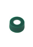 Green, 12 x 32mm Screw Neck Cap and preslit PTFE/silicone Septum