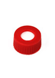 Red, 12 x 32mm Snap Neck Cap and PTFE/silicone Septum, 100/p