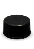 13 mm solid black cap with PTFE/silicone liner, 100/pk;