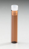 Deactivated Amber Glass 8 x 40 mm Snap Neck Vial, with Cap and PTFE Septum, 1 mL
