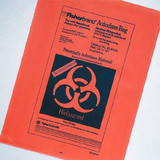 Fisherbrand(TM) Orange Autoclave Bags With Sterilization Indicator