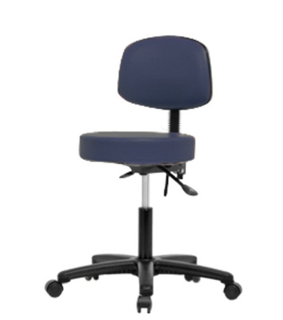 Deluxe Laboratory or work Stool with Casters