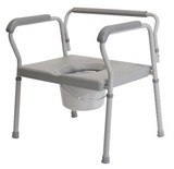 Lumex Bariatric Imperial Collection Three- In- One Steel Commode