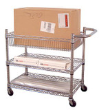 Luxor Wire Transport Carts -  Chrome