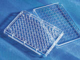 Corning® 96-well Clear Flat Bottom Polystyrene TC-treated Microplates, Individually Wrapped, with Lid, Sterile/Case of 50
