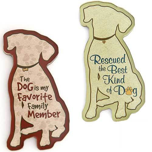 Dog Speak Dog Shaped Magnets