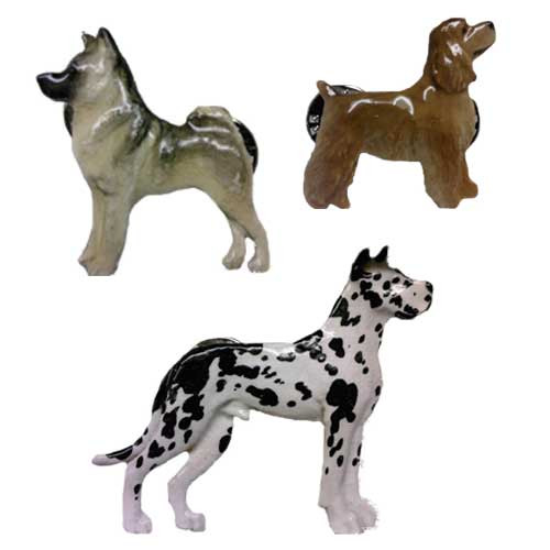 George Harris Hand Painted Dog Breed Pins