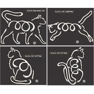 Cat K-Lines Window Tattoos