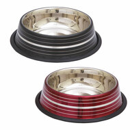 Color and Silver Stripe Stainless Steel Dishes