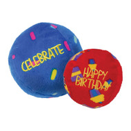 KONG Occasions Birthday Ball Plush Toy 2-Pack