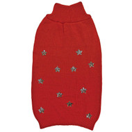 Fashion Pet Sequin Star Sweater in Red