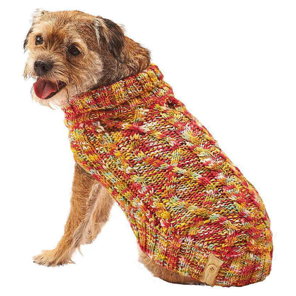 Fashion Pet Multi Crochet Sweater