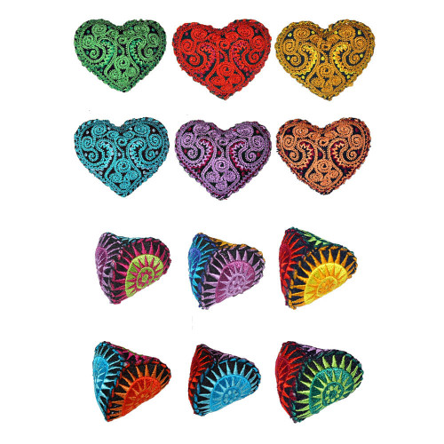 Goli Design Sunbursts and Chimey Hearts Catnip Toys