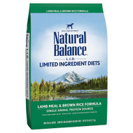 Natural Balance LID Lamb Meal and Brown Rice Dry Dog Food Formula - 28lbs