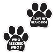 Paw Magnets with Phrases