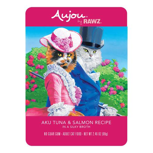 Rawz Aujou Cat Shredded Aku Tuna & Salmon Pouches