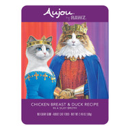Rawz Aujou Cat Shredded Chicken Breast & Duck Pouches