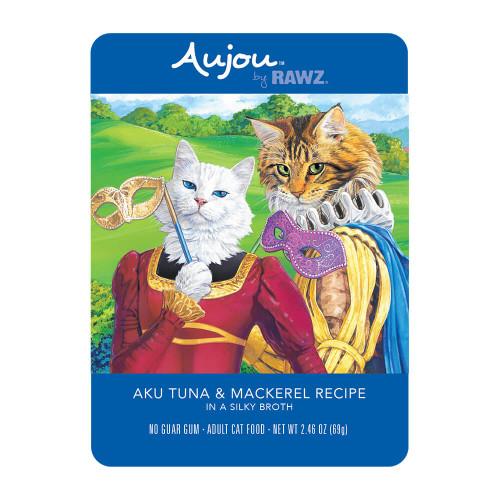 Rawz Aujou Cat Shredded Aku Tuna & Mackerel Pouches