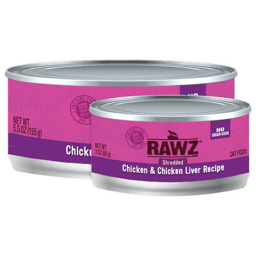 Rawz Shredded Chicken & Chicken Liver Cat Food
