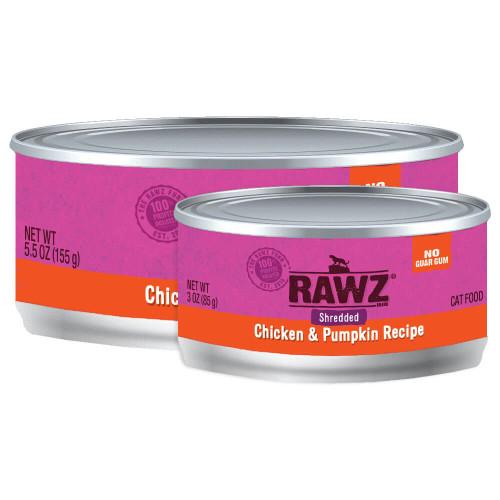 Rawz Shredded Chicken & Pumpkin Canned Cat Food