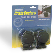 MidWest Universal Crate Casters - 2 Pack