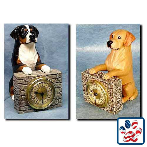 Michael Park Dog Breed Mantle Clock