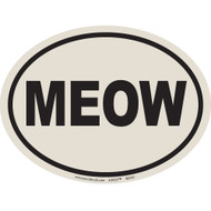 European Style MEOW Auto Decal