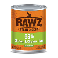 RAWZ 96% Chicken and Chicken Liver Case of Canned Dog Food