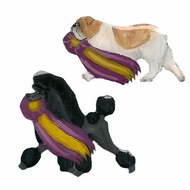 Dog with Ribbon Lapel Pins