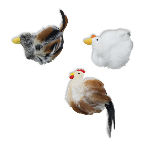 SPOT Birds of a Feather with Catnip Cat Toy Assorted