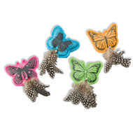 SPOT Whiskins Felt Butterfly with Catnip Cat Toy