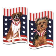 Patriotic Breed Garden Flags