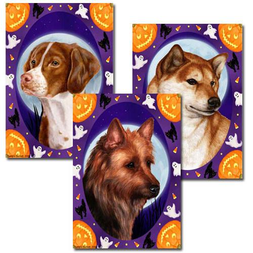 Halloween Howls Dog Breed Flags