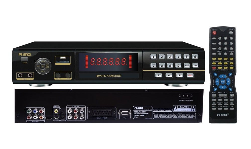 RSQ MKP-2000 DVD, MP3+G, CDG Karaoke Player w/ Ripping and Recording