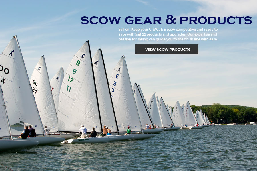 Keep your C, MC, and E scows in top racing condition with parts, gear, and rigging from Sail22