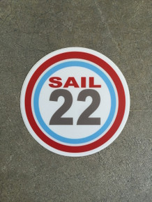 "Sail22 Sticker - 4"" Round"