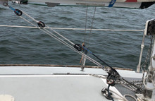 J/24 Vang using the Harken Fly Blocks and T2.