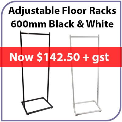 Adjustable Floor Racks Black & White