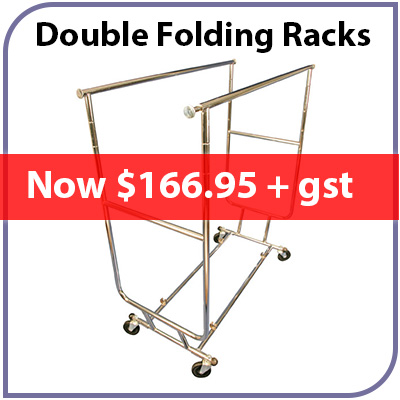 Double Folding Garment Racks