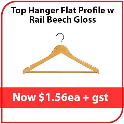 Top Hanger Flat Profile w Rail Beech Gloss