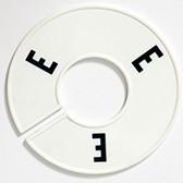 Size Divider White w Black Alphabet E