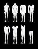 Male Mannequin Headless Ghost on Wheeled Base Matte White